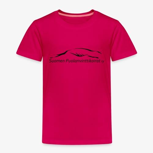 SUP logo musta - Lasten premium t-paita