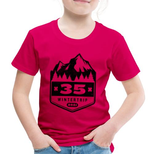 35 ✕ WINTERTRIP ✕ 2021 • BLACK - Kinderen Premium T-shirt