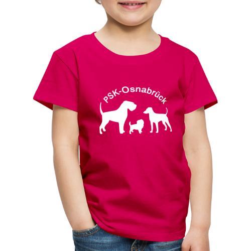 PSK-Logo Weiß - Kinder Premium T-Shirt