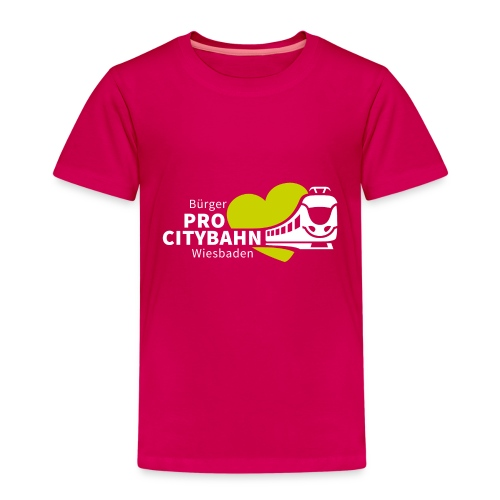 logo_long_whitegreen - Kinder Premium T-Shirt