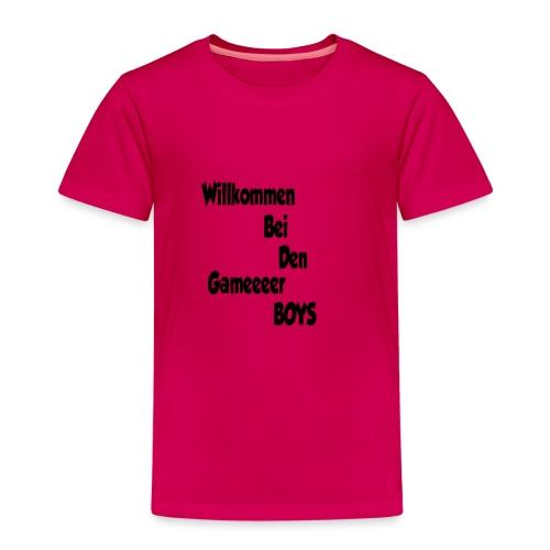Begrüßung Schwarz - Kinder Premium T-Shirt