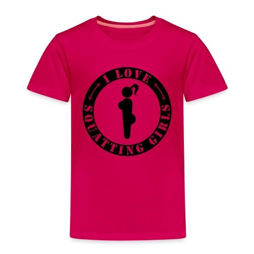 I love squatting girls - Kinder Premium T-Shirt
