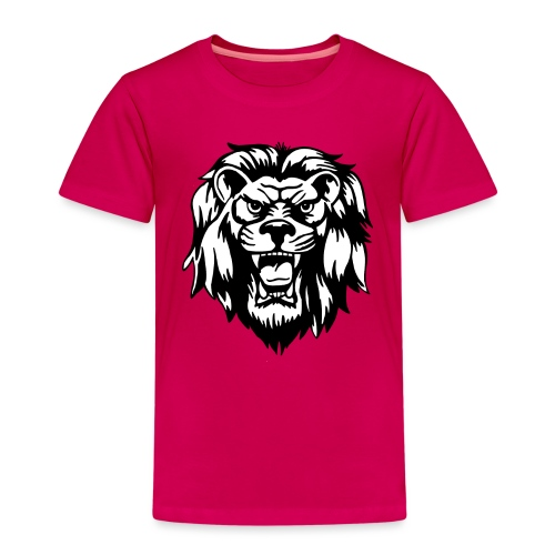 00 lion head black vector - Kids' Premium T-Shirt