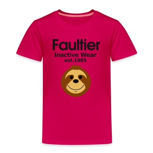 Faultier lustige coole Sprüche Sport Gym Yoga Teen - Kinder Premium T-Shirt