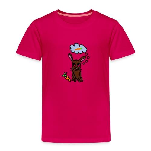 Hase mit Karotte träumt - Kinder Premium T-Shirt