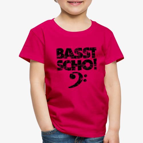 BASST SCHO! Bass Bassschlüssel Bassisten - Kinder Premium T-Shirt