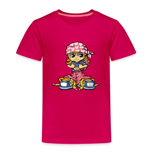 hip-hop girl and bandana - Kinder Premium T-Shirt