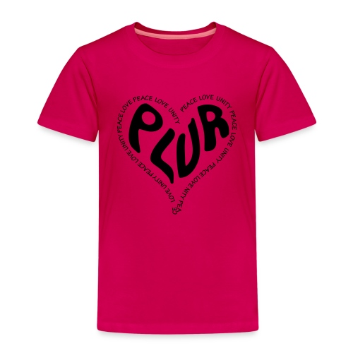 PLUR Peace Love Unity & Respect ravers mantra in a - Kids' Premium T-Shirt
