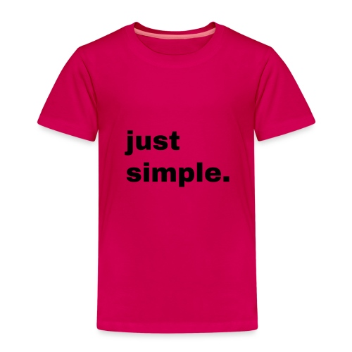 just simple. Geschenk Idee Simple - Kinder Premium T-Shirt