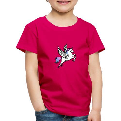 Fliegendes Einhorn - Kinder Premium T-Shirt