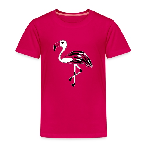 Flamingo schwarz-weiss - Kinder Premium T-Shirt