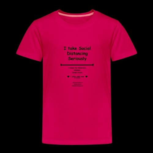 Social distancing black - Kinderen Premium T-shirt