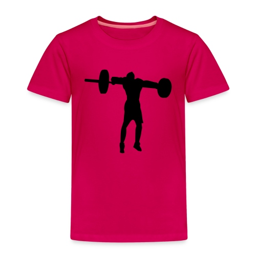 weight_lifting_man_silhouette - T-shirt Premium Enfant