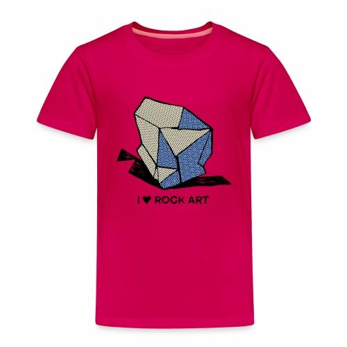 I LOVE ROCK ART No 1 colour - Kinderen Premium T-shirt
