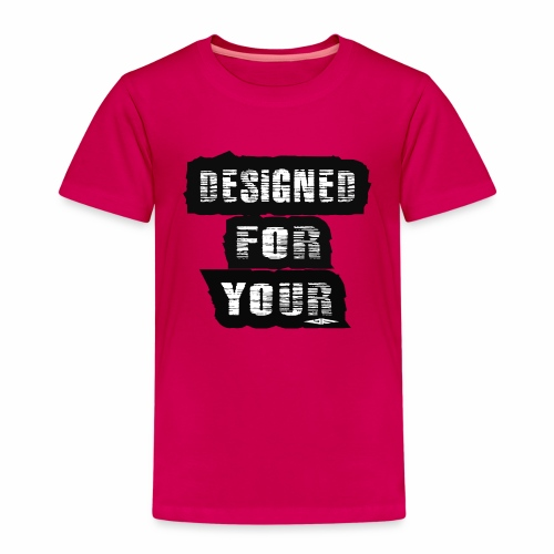 J&F Designed for your - Camiseta premium niño