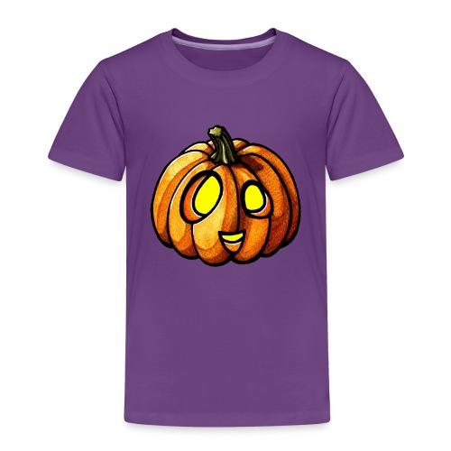 Pumpkin Halloween watercolor scribblesirii - Børne premium T-shirt