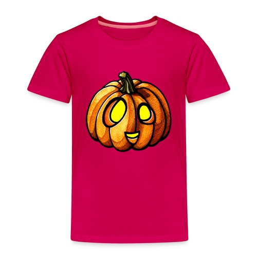 Pumpkin Halloween watercolor scribblesirii - Kinder Premium T-Shirt