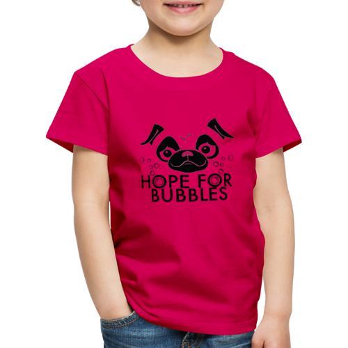HOPE FOR BUBBLES BLACK MERCH - Kinderen Premium T-shirt