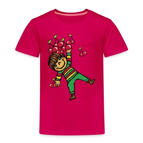 08 kinder kapuzenpullover hinten - Kinder Premium T-Shirt
