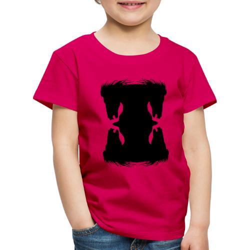 Cheval cabré en ombres chinoise - T-shirt Premium Enfant