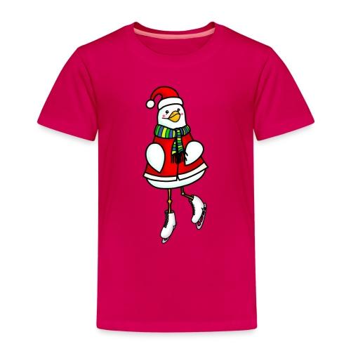 Xmas ice skating chick - Kids' Premium T-Shirt