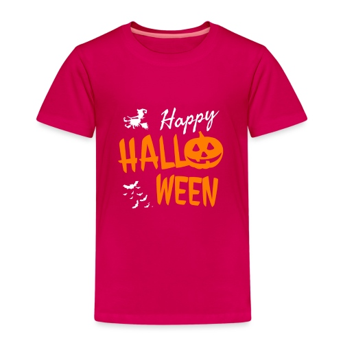 Happy Halloween Kostüm Kürbis Hexe Fledermäuse - Kinder Premium T-Shirt