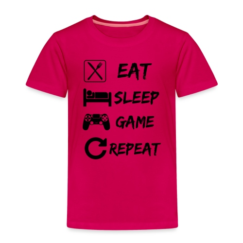 Eat_Sleep_Game_Repeat - Kids' Premium T-Shirt