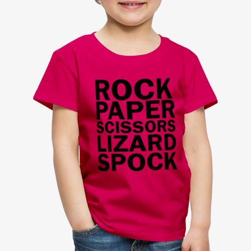 rock paper scissors lizard spock - Kids' Premium T-Shirt