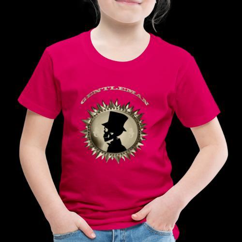 TÊTE DE MORT SILHOUETTE PORTRAIT GENTLEMAN - T-shirt Premium Enfant