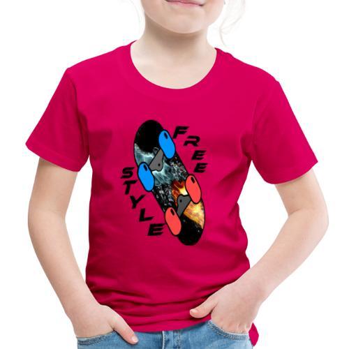 Skateboard Freestyle - Kinder Premium T-Shirt