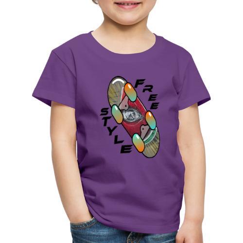 Skateboard Freestyle 2 - Kinder Premium T-Shirt