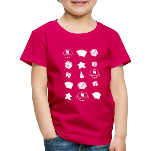 WuZ Transparent Weiss - Kinder Premium T-Shirt