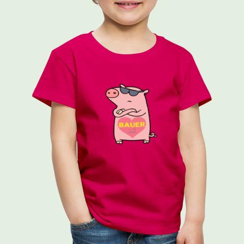 Ich liebe Bauer - Kinder Premium T-Shirt