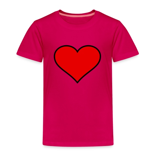 big heart clipart 3 - Premium-T-shirt barn