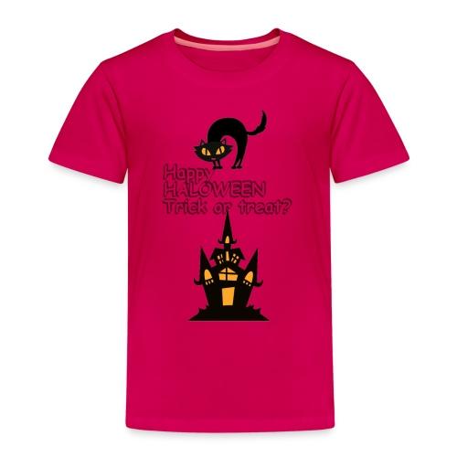 CAT LOVE CHAT AMOUR HALOWEEN - T-shirt Premium Enfant