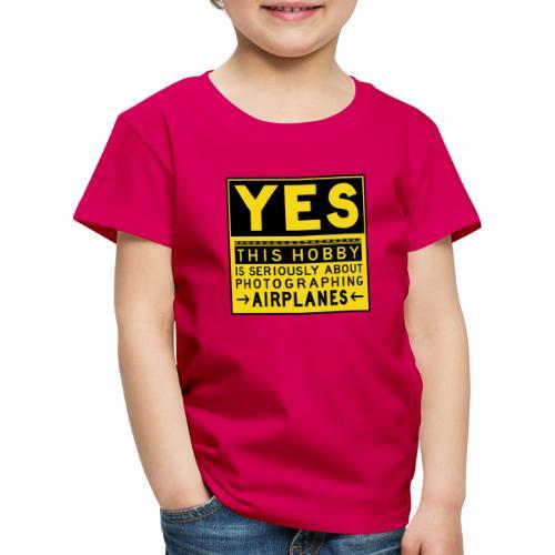 Mitä lentosuunnittelu tarkoittaa - esiliinamerkki - Lasten premium t-paita