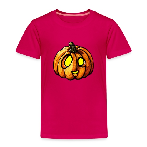 Pumpkin Halloween watercolor scribblesirii - Kids' Premium T-Shirt