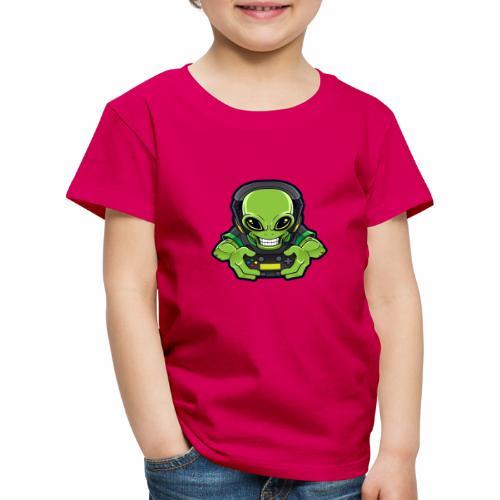 AlienGamer Logo - Maglietta Premium per bambini