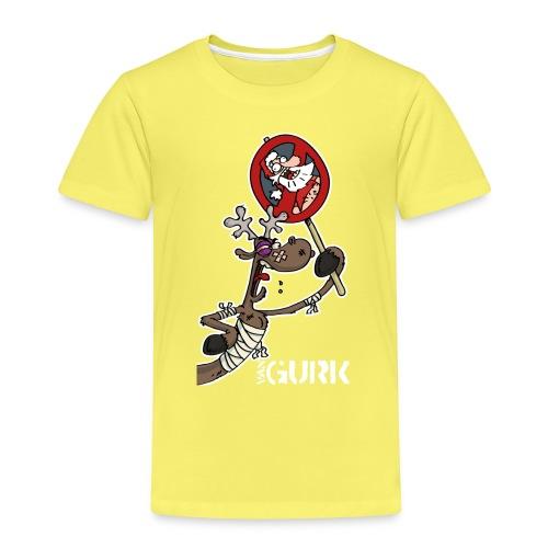 VAN GURK Rentier FLitzer mit Logo VAN GURK weiss - Kinder Premium T-Shirt
