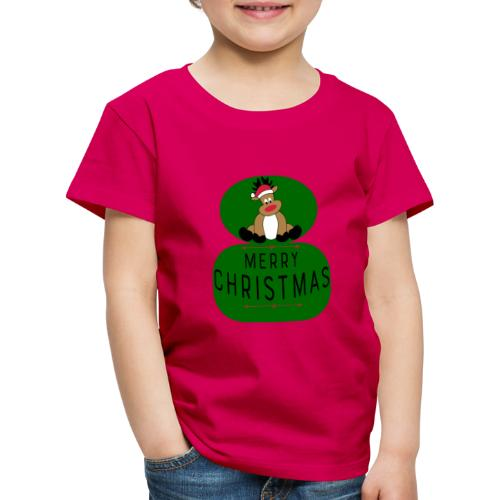 Funny Merry Christmas, lustiges Rentier - Kinder Premium T-Shirt