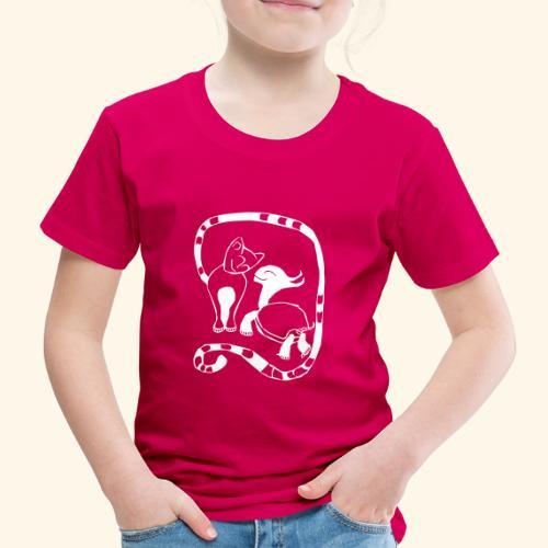Katze und Schildi - Kinder Premium T-Shirt