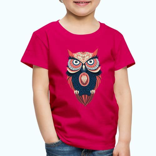 Hippie owl - Kids' Premium T-Shirt