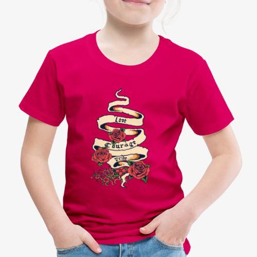Liebe und Mut - Kinder Premium T-Shirt