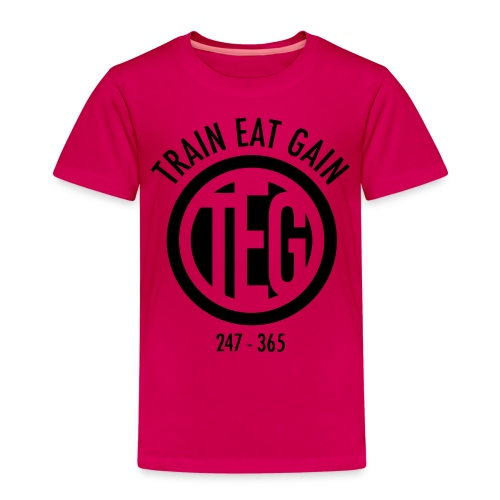 Train Eat Gain Circle - Kids' Premium T-Shirt