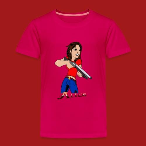 AliceShirtSchrotflinte Outline 9 Schrift png - Kinder Premium T-Shirt