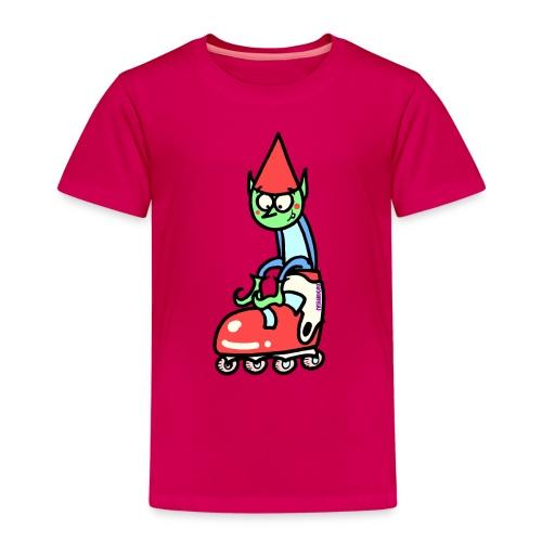 El gnomo en el patín - Camiseta premium niño
