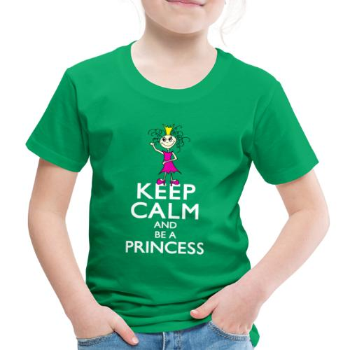 Keep calm an be a princess - Kinder Premium T-Shirt
