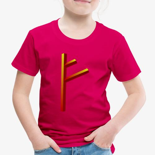 Rune Fehu - Kinder Premium T-Shirt