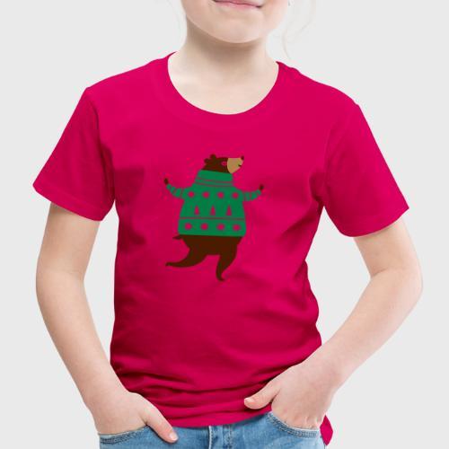 Ours avec un pull-over - T-shirt Premium Enfant