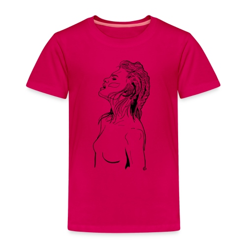 Die Frau mit den geflochtenen Haaren - Kinder Premium T-Shirt